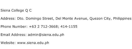Siena College Q C Address Contact Number