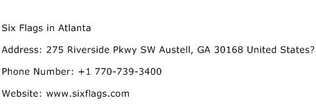 Six Flags in Atlanta Address Contact Number