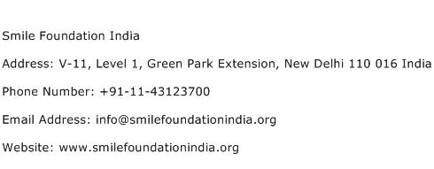 Smile Foundation India Address Contact Number