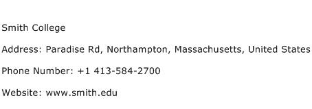 Smith College Address Contact Number