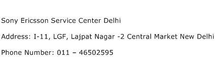 Sony Ericsson Service Center Delhi Address Contact Number