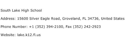 South Lake High School Address Contact Number