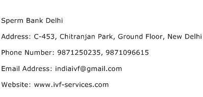 Sperm Bank Delhi Address Contact Number