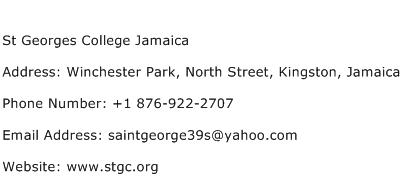 St Georges College Jamaica Address Contact Number