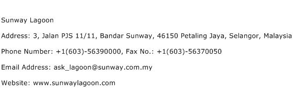 Sunway Lagoon Address Contact Number