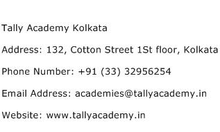 Tally Academy Kolkata Address Contact Number