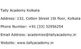 Tally Academy Kolkata Address Contact Number