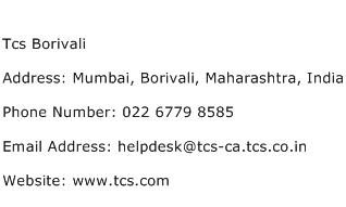 Tcs Borivali Address Contact Number