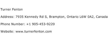 Turner Fenton Address Contact Number