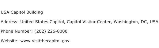 USA Capitol Building Address Contact Number