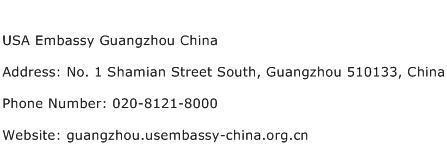 USA Embassy Guangzhou China Address Contact Number