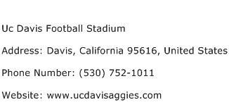 Uc Davis Football Stadium Address Contact Number
