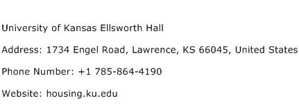 University of Kansas Ellsworth Hall Address Contact Number