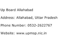 Up Board Allahabad Address Contact Number