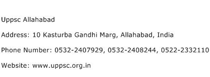Uppsc Allahabad Address Contact Number
