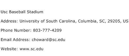 Usc Baseball Stadium Address Contact Number