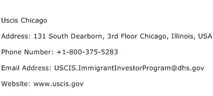 Uscis Chicago Address Contact Number