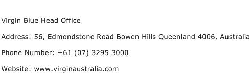 Virgin Blue Head Office Address Contact Number