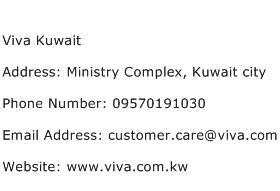 Viva Kuwait Address Contact Number