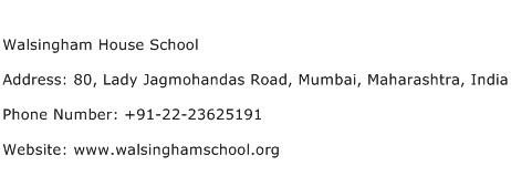 Walsingham House School Address Contact Number