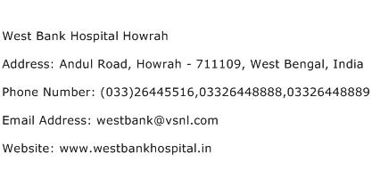 West Bank Hospital Howrah Address Contact Number