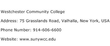 Westchester Community College Address Contact Number