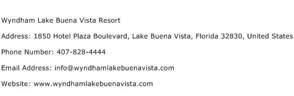 Wyndham Lake Buena Vista Resort Address Contact Number