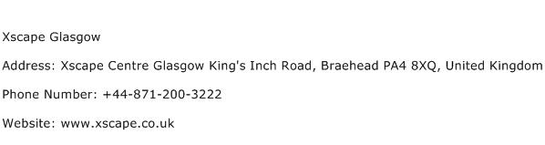 Xscape Glasgow Address Contact Number