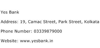 Yes Bank Address Contact Number