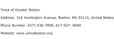 Ymca of Greater Boston Address, Contact Number of Ymca of Greater Boston